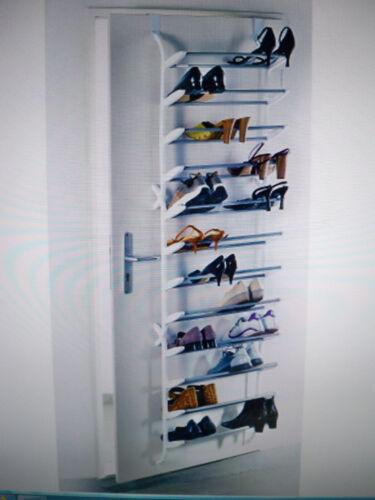 Schuhregal für die Tür für bis 36 Paar Schuhe Metall Kunststoff ein Platzwunder.