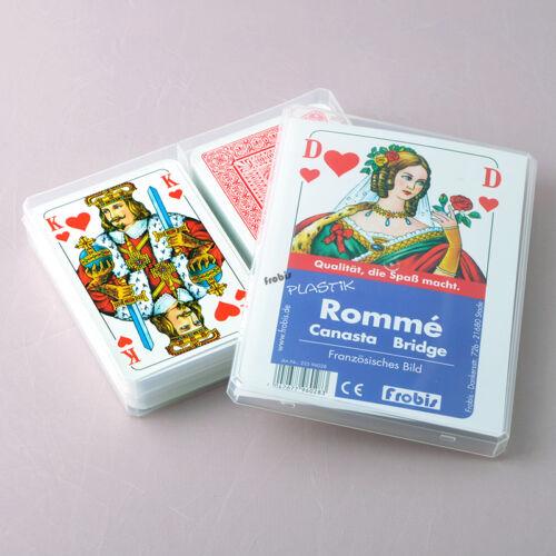 Frobis Spiele 5 Plastik Romme Bridge Canasta Kartenspiele Französisches Bild
