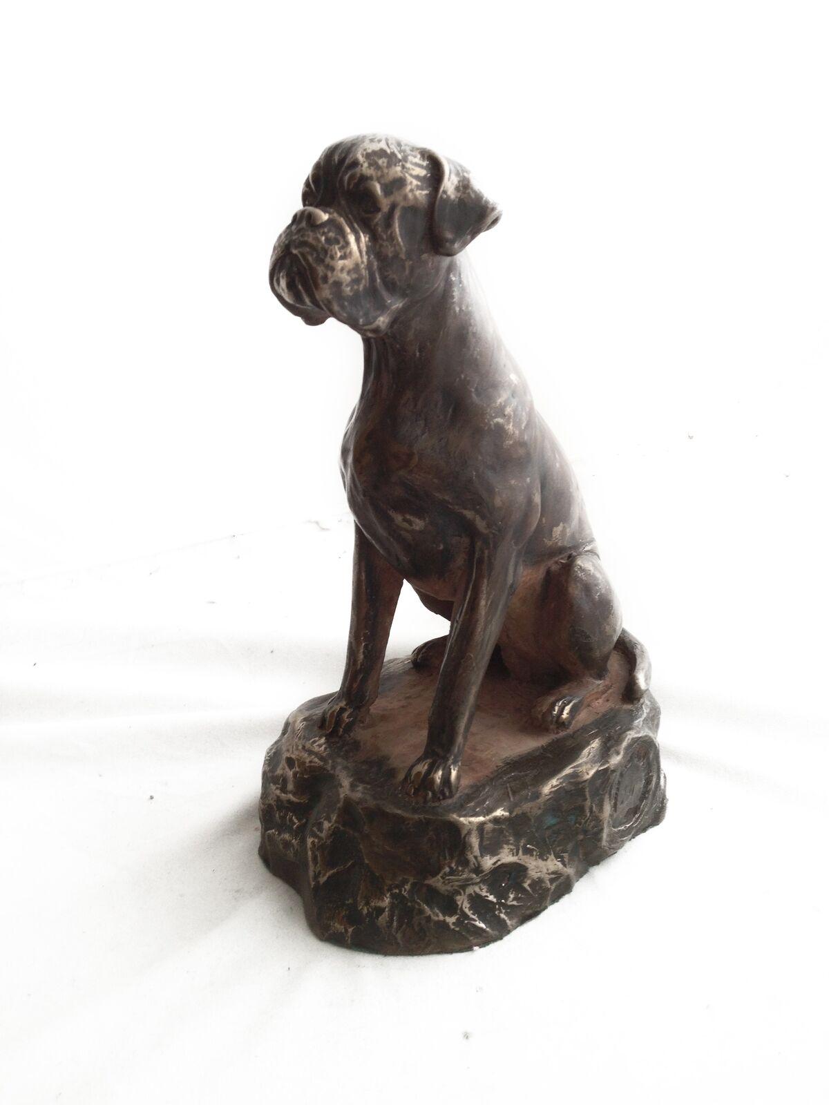 Boxer - dog bronze figurine, high quality, Art Dog