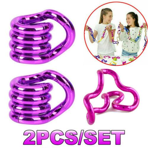 2Pc Fidget Fiddle Twist String Tangles Toy Relax Anxiety Stress ADHD Sensory