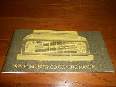 ford bronco owner manual  owners guide ebay