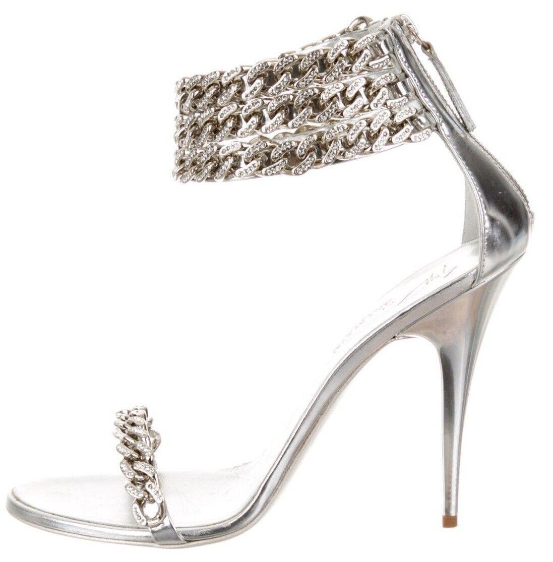 BALMAIN Silver Chain Sandals SZ 40 = US 9.5 - 10 - NIB