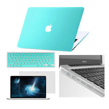 """Logo Cut Out Hard Case+Keypad Cover+LCD Guard+Plug for MacBook Air Pro 11""""13""""15"""""""
