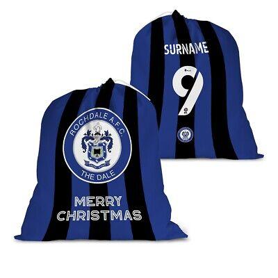 BACK OF SHIRT Rochdale A.F.C Personalised Santa Sack