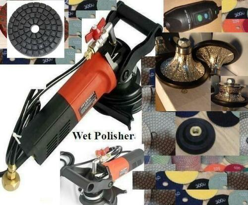 Wet Polisher B10 V30 Half Full Bullnose Router 18 Pad 2 damo Buff Stone Marble