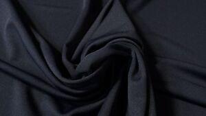 Navy-Blue-Poly-Viscose-Double-Knit-Apparel-Fabric-60-034-W-Dress-Premium-Soft