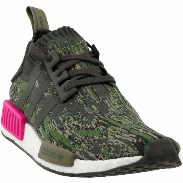 Cheap Adidas NMD R1 Primeknit Glitch Camo Mens Black White For Sale
