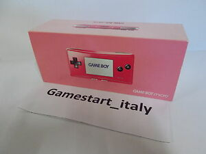 CONSOLE-NINTENDO-GAME-BOY-MICRO-ROSA-PINK-NUOVO-NEW-PAL-VERSION