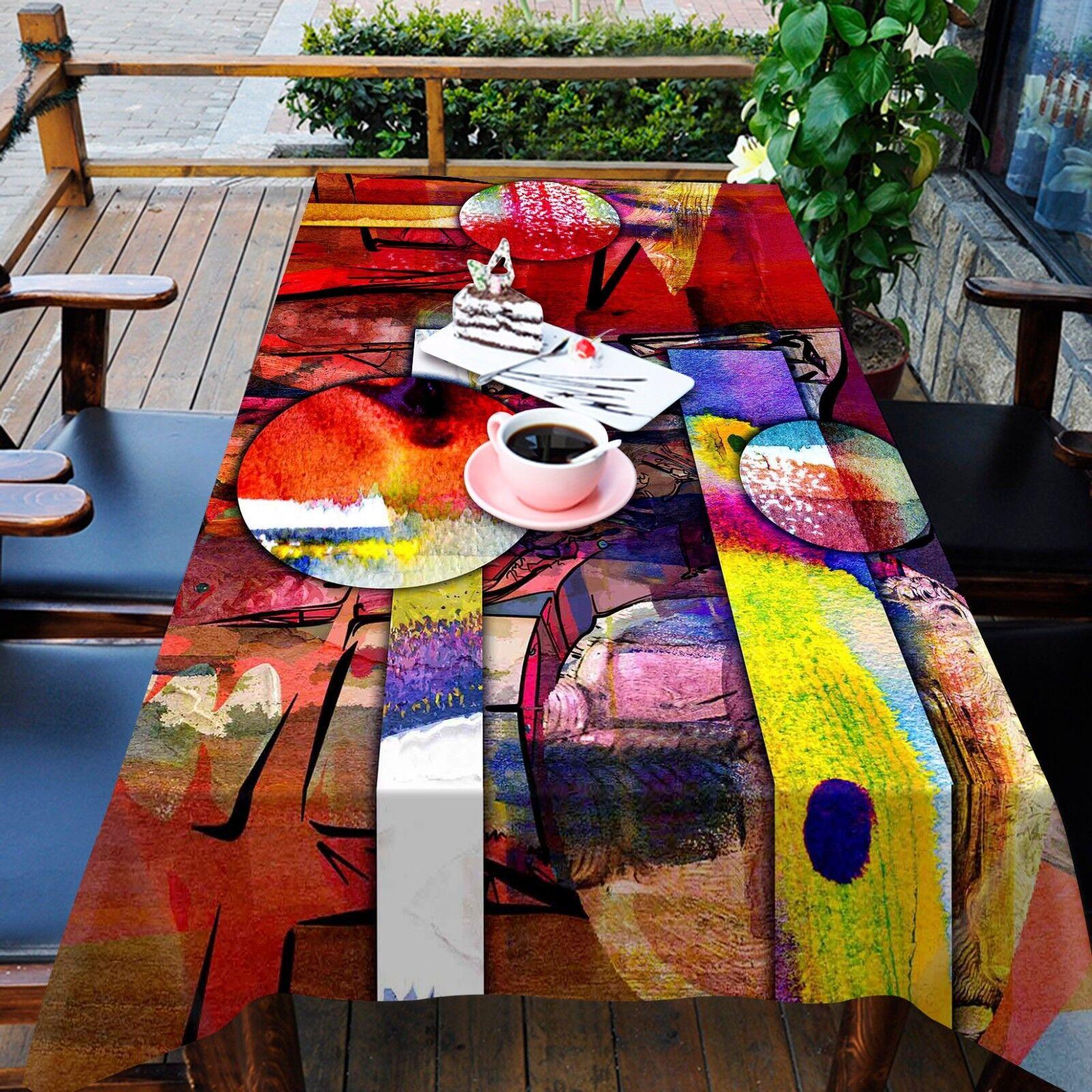 Couleur 3D 45 Nappe Table Cover Cloth fête d'anniversaire AJ papier peint Royaume-Uni Citron