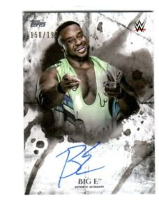 WWE-Big-E-2018-Topps-Undisputed-On-Card-Autograph-SN-150-of-199