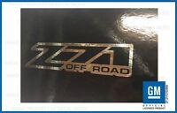 Set 2 - Z71 Offroad 2001 <-> 2006 Sticker Decal Parts Gmc Sierra 4x4 - Chrome