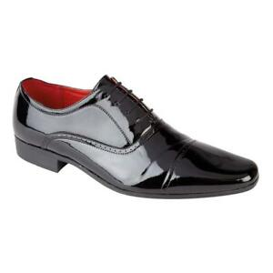 3a177d16b3fe Mens Formal Office Work Smart Shoes Patent Toe Cap Oxford Gibson ...