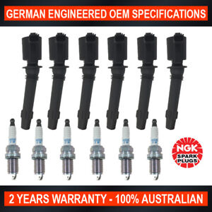 6x-Genuine-NGK-Iridium-Spark-Plugs-amp-6x-Ignition-Coils-for-FPV-F6-Typhoon-Ford