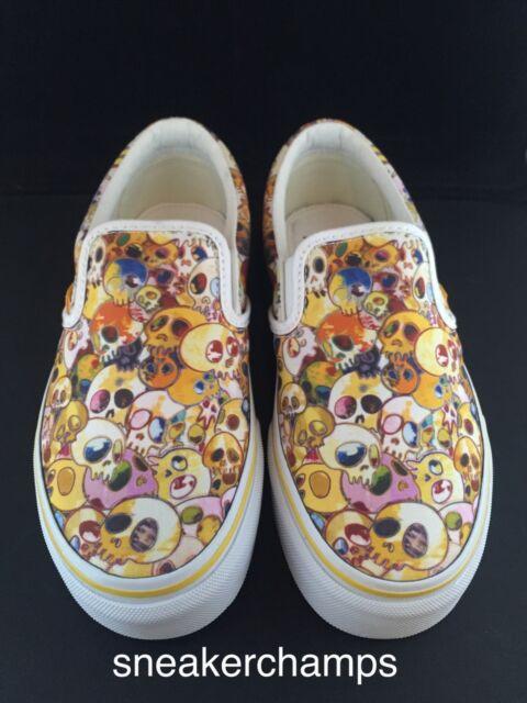 049444f725 Vans Vault x Takashi Murakami Classic Slip-On LX Yellow Skull Size 4-13