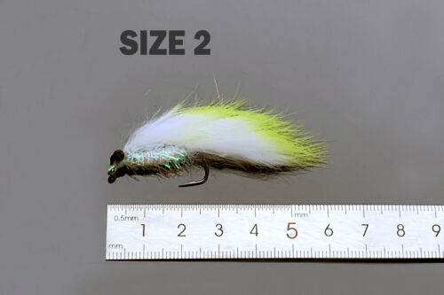 6 colors assorted Zonker Streamers Trout Fly Fishing Flies Lures Fly Set-Size #2