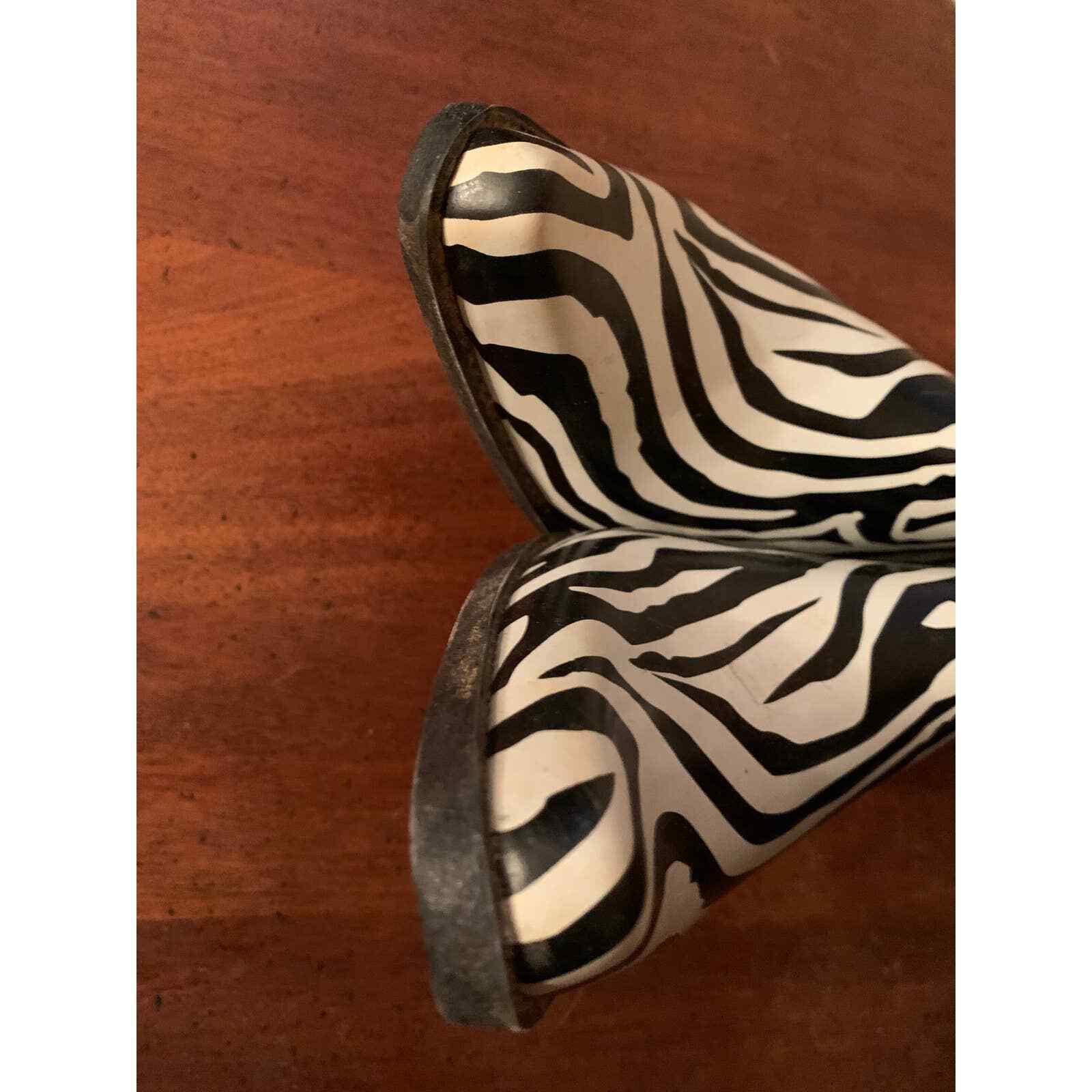 Corkys Western Cowgirl Zebra Print Rubber Rain Bo… - image 6