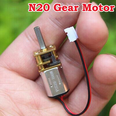 DC3V-6V 5V 55RPM Slow Speed Mini N20 Full Metal Gear Motor Speed Reducer Gearbox