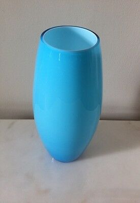 """Contemporary Blue/Turquoise Glass 9"""" Tall Vase.                        #1500"""