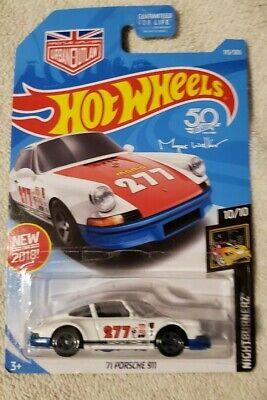 NEW 2018 Hot Wheels 235//365 /'71 Porsche 911 #10//10 Nightburnerz NIB