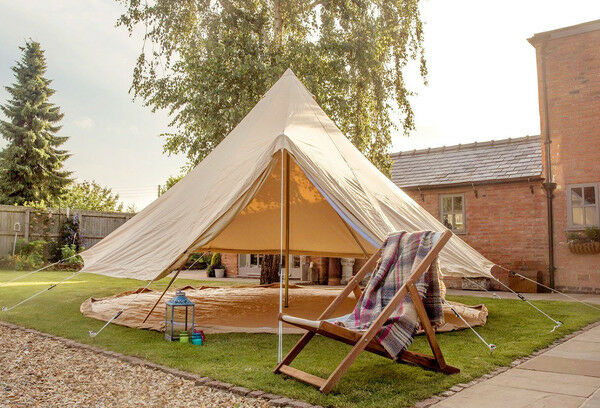 5 Metre Canvas ZIG Bell Tent By Bell Tent Boutique.