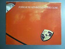 1982 Porsche 911SC, 928 924 & 924 Turbo Showroom Advertising Brochure RARE L@@K