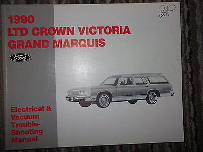 1990 Ford Ltd Crown Victoria Grand Marquis Electrical Wiring Diagrams Manual Ebay