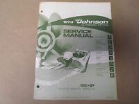1973 Johnson Outboards Service Shop Manual 65 Hp 65es73 65esl73 Boat X