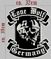 Lone Wolf Germany Rückenpatch, Aufnäher
