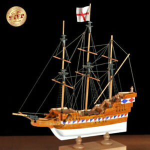 Details About Beginner Friendly Wooden Model Ship Kit By Amati The Elizabethan Galleon