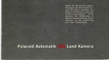 Bedienungsanleitung Notice d ´emploi Handbook Polaroid Automatik 104  B156