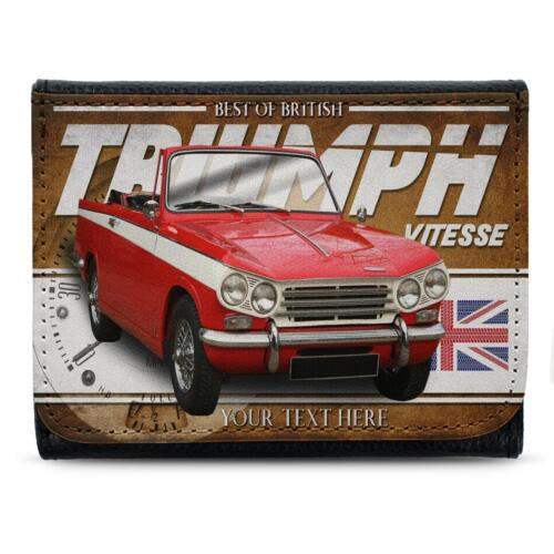 Personalised Triumph Vitesse Wallet Classic Car Leather Mens Dad Gift CL56