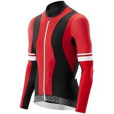 Skins Cycle Men's Tremola Jersey Long-sleeve Red/Black/White Large
