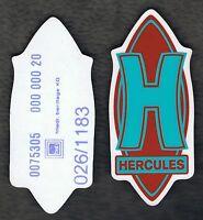 Original Hercules h Aufkleber Rot/ Grün, Uv U. Wetterbeständig Absolut Selten