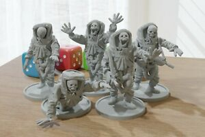 Zombies in Biohazard Suits - 28mm ZONA ALFA - Modern Wargaming Miniature for Tab