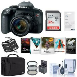 Canon EOS Rebel T7i DSLR with 18-55mm STM Lens - With Free PC Accessory Bundle