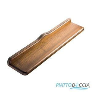 Mensole Arte Povera.Dettagli Su Mensola Arte Povera Per Bagno Legno Stile Classico Color Noce Accessori Bagno