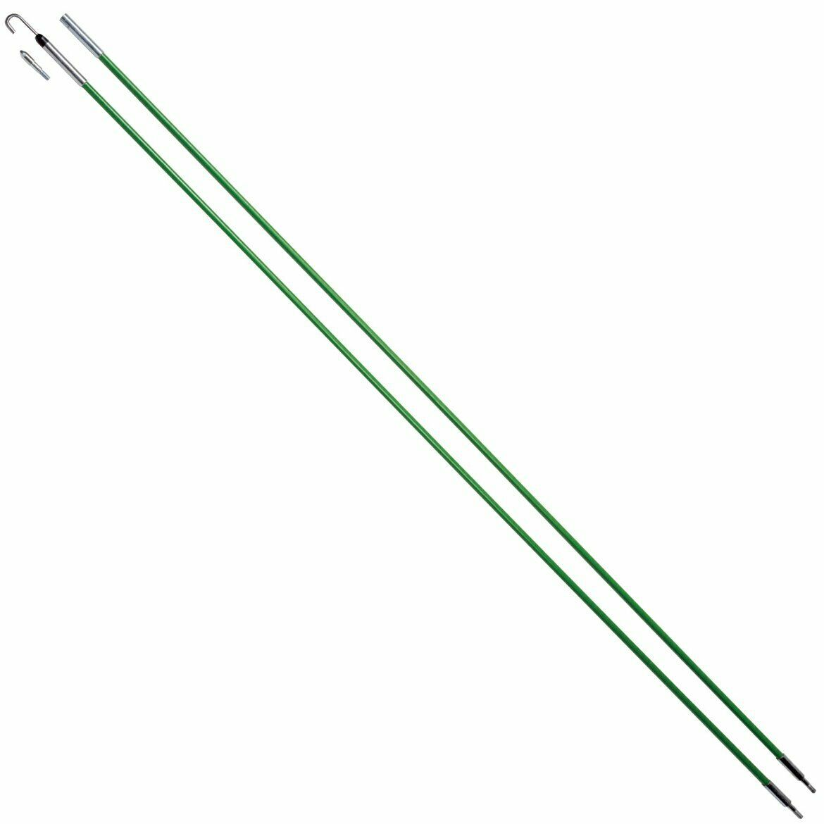Greenlee 540-12 Fish Stix Kit With Bullet Nose And J-Hook Threaded Tips 1//4 X 12