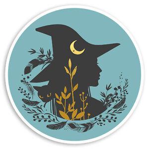 2-x-10cm-Witch-amp-Black-Cat-Vinyl-Stickers-Blue-Girls-Laptop-Sticker-30580