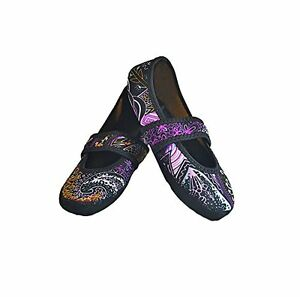 dc4bb02a493 Image is loading Nufoot-Betsy-Lou-Indoor-Womens-Slipper-Paisley-Small-
