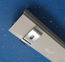 "5 Piece Vertical Blind C Clip Metal Bracket For 1 1/2"" Rail Mount Hangers"