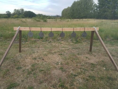 Portable Steel Challenge Plate Rack For Handgun Training without gong targets