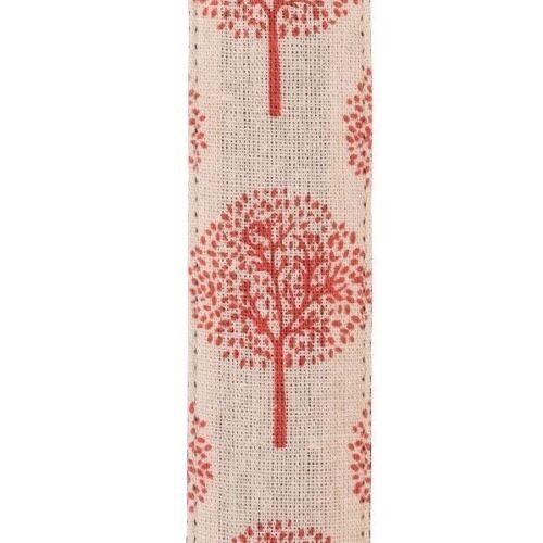 Pretty Red Graphic Tree on Beige Adjustable Guitar Strap Pick Holder Girl Ladies