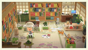 Japanese-Style-Study-Room-Furniture-Set-39-Pcs-New-Horizons-Original-Design