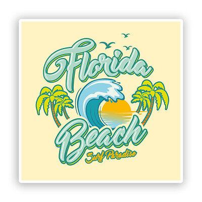 2 x Paradise Island Bali Vinyl Stickers Travel Luggage #7461