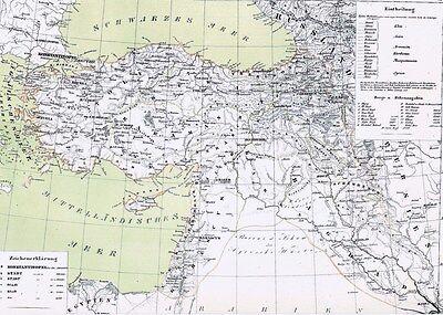 ????????????????????????echte 159 Jahre Alte Landkarte Türkei TÜrkİye Syrien 1860 Um Jeden Preis