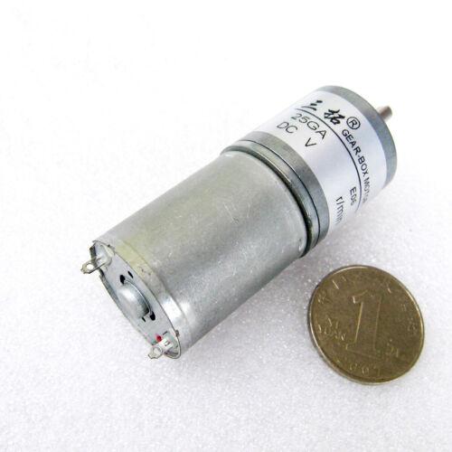 25mm DC 6V 12V Mikro Getriebemotoren 12-200 RPM CW//CCW High Torque Motor