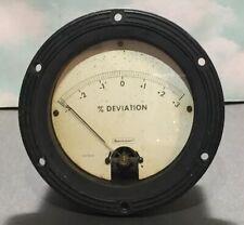 Vintage Beckman Military Deviation Gauge Scale Meter Model 1027 257 1