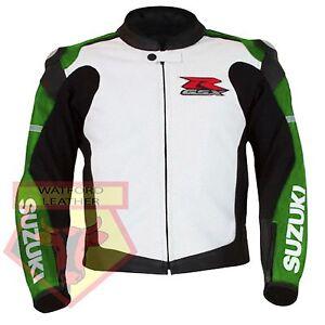 SUZUKI-4316-GREEN-MOTORBIKE-COWHIDE-LEATHER-MOTORCYCLE-BIKER-ARMOURED-JACKET