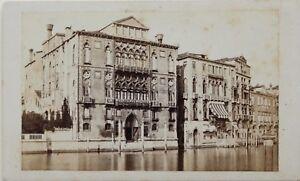 Carlo Ponti Palazzo Cavalli Venezia Italia CDV Foto Vintage Albumina