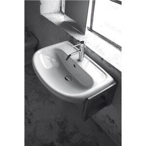 Lavandino lavabo semincasso bagno modello atene in - Lavabo bagno semincasso ...